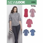 6394 New Look Pattern: Women's Button Front Tops